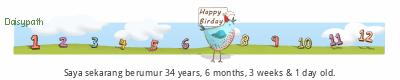 Nama saya Mohd Syafiq Happy Birthday tickers