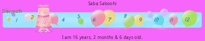 Saba Saboohi's age